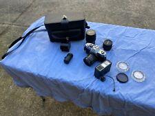 Vintage Yashica TL-Electro Camera Bundle - 4 Lenses, 3 Filters, Flash, Case, and