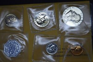 usa United States 1960 silver proof set with original envelope