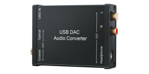 Premium USB DAC External Sound Card For PC Mac Android PS4