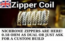 NI80 ZIPPER COILS! - CUSTOM BUILT X 8 - RDA/RTA FAST RAMP UP SPEED!
