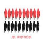 20Pcs(10pcs Black+10pcs Red) Soft Plastic Coated Testing Probe Alligator Clip yu