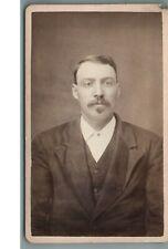 C.1882, MAN IN SUIT, H.C. EBERHART, REINBECK, IOWA, CDV PHOTO