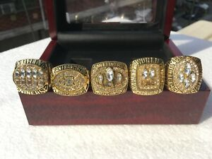 5PCS 1981 1984 1988 1989 1994 San Francisco 49ers World Championship Ring !-