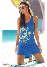 Venice Beach Longtop mit Logo-Druck, blau-neongelb . NEU!!!