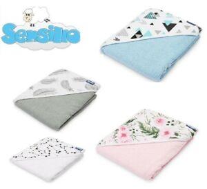 Soft baby BIG hooded Towel Terry 100x100 cm Sensillo