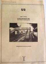 U2 1980 original Poster Advert A Day Without Me boy