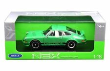 WELLY 1/18 1973 PORSCHE 911 CARRERA RS DIECAST CAR GREEN 18044W-GRN