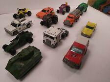 New ListingVintage Lot 12 Mattel Hot Wheels Diecast Cars Trucks Tank Atv Tractor Van T-bird