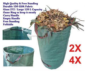 High Quality Heavy Duty Reusable Lawn Garden Waste Leaf Bag Utility Bin