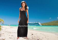New Womens Black Halter Neck Maxi NEXT Dress Bra Size 34 B RRP £40 DEFECT
