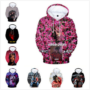 Juice Wrld 3D Print Unisex Mens And Womens Hoodie Pullover Sweatshirt Top Gift