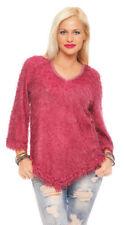 Damenblusen, - tops & -shirts mit V-Ausschnitt aus Polyester in Größe 36