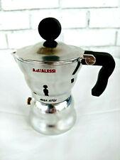 Alessi Aam33/1 Moka Stove Top Espresso 1 Cup Coffee Maker In Aluminium Casting H