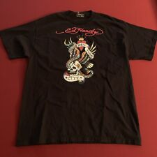 Vintage Ed Hardy Shirt Cobra Bald VTG Eagle Fight Skull Kingdom Tee
