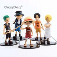5X One Piece Monkey D. Luffy Sanji Zoro PVC Action Figures Toy 6'' Birthday Gift