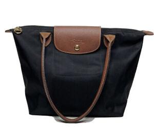 Longchamp Le Pliage Small Black Nylon Shopping Tote