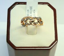 GORGEOUS LEVIAN 14K ROSE GOLD CHOCOLATE AND WHITE DIAMOND RING