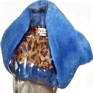 Dolce Gabbana Vintage Blue  Mink Fur Shrug Jacket Fall Winter 1997-1998
