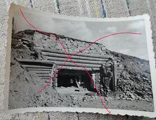 original  Foto  WH Heer Bunker Russland bei Leningrad