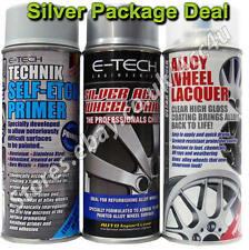 E-Tech Professional SILVER Car Alloy Wheel Spray Paint Lacquer Self Etch Primer