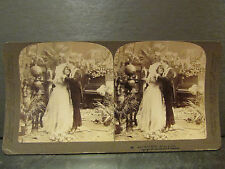 ancienne photo stereoscopique underwood & underwood mariage noces adoration