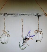 Hänger Zweig Fensterdeko mit 3 Vasen Home Natur Formano