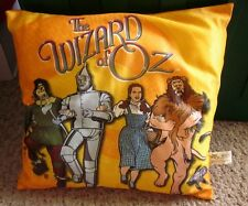 WIZARD OF OZ throw pillow Dorothy Cowardly Lion & Scarecrow & Tin Man