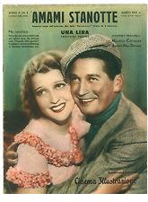 CINEMA ILLUSTRAZIONE 3 1933 AMAMI STANOTTE JEANETTE MAC DONALD MAURICE CHEVALIER