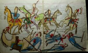 ORIGINAL Indian School Ledger Drawing. Early 1900s.