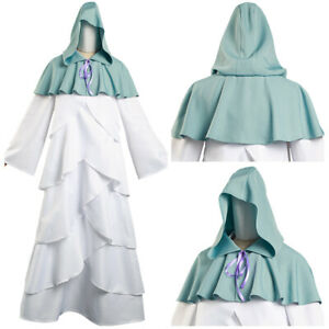 The Promised Neverland Mujika Cosplay Costume Long Robe Cloak Halloween Outfit