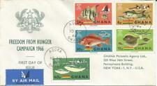 Ghana 1966  Freedom From Hunger Campaign Registered Accra New York FDI FDC Cover
