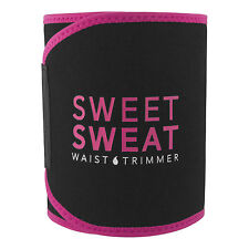 Sweet Sweat Waist Trimmer (Pink Logo). Small Includes Sample of Sweet Sweat