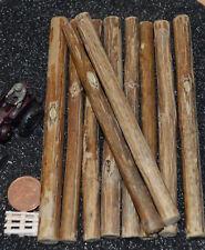 Ladegut Holz, Stämme Naturholz ca. 106 mm lang Ø 7,00 - 11,00 mm, 10 Stück