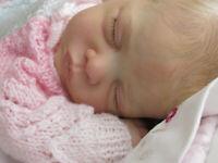 "Beautiful reborn 18"" baby girl Romyx Gudrun Leglar ~ GHSP ~ Micro rooted lashes"