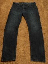 2012 GAP Men's ORIGINAL Fit Dark Blue Jeans 36x36 actual = 38x34 Button Fly