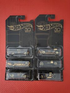 50th ANNIVERSARY HOT WHEELS CARS 1/6  OR A COMPLETE SET CHOOSE FROM OUR LIST..