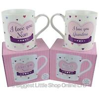 NEW Fine China I LOVE YOU Nan or Grandma MUG/CUP by Leonardo GiftBox Mothers Day