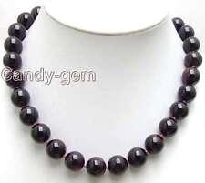 "SALE Big 13mm AAA Round High quality garnet gemstone Beads 17"" necklace-nec5540"