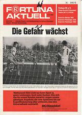 BL 81/82  Fortuna Düsseldorf - Eintracht Braunschweig