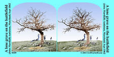Grave Antietam John Marshall Civil War SV Stereoview Stereocard 3D 01109