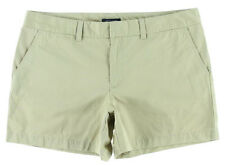 NEW Womens Tommy Hilfiger Travel Khaki Twill Bermuda Walking Midi Shorts AU 14
