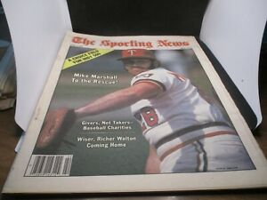 JUNE 2,1979-THE SPORTING NEWS-MIKE MARSHALL OF THE MINNESOTA TWINS