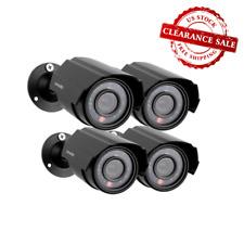 Zmodo 4-Pack Analog CCTV 700TVL HD Smart Bullet Security Cameras w/ Night Vision