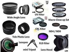 Z104u TELE + Wide Lens / Filter / Hood / Pen / Tripod for Canon EOS 550D 18-55mm