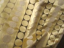VINTAGE  Pair of Curtains - Gold / Black Brocade type material from the 1960s