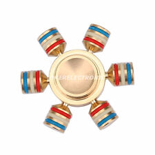 Colourful Hand Spinner Fidget Focus Toy Brass Copper Finger Gyro EDC ADHD S002