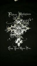 Poker Religion Black T-Shirt by High Roller Clothing