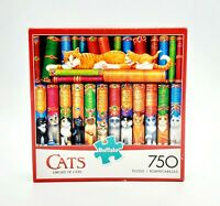 Buffalo Games Library of Cats 750 PC Jigsaw Puzzle 17083 Kittens Books Spangler