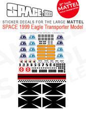 "MATTEL - SPACE 1999 EAGLE TRANSPORTER - STICKER DECALS - 31"" INCH MATTEL MODELS"