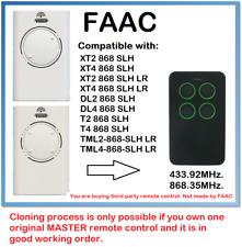 FAAC XT2/XT4 868 SLH, XT2/XT4 868 SLH LR Compatible Remote control 868.35MHz.